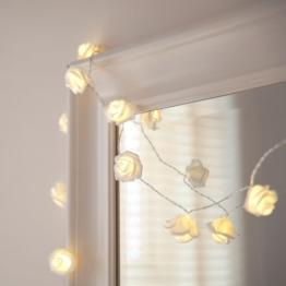 20er LED Rosen Lichterkette warmweiß batteriebetrieben - 1