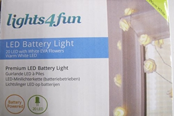 20er LED Rosen Lichterkette warmweiß batteriebetrieben - 6