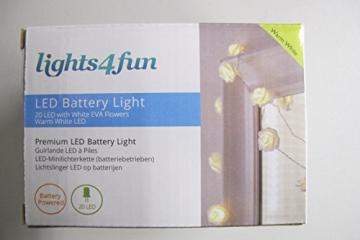 20er LED Rosen Lichterkette warmweiß batteriebetrieben - 7