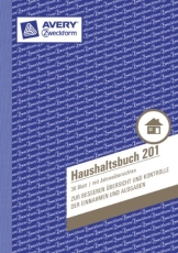 Avery Zweckform 201 Haushaltsbuch (DIN A5, mit Jahresübersicht, 36 Blatt) weiß - 1