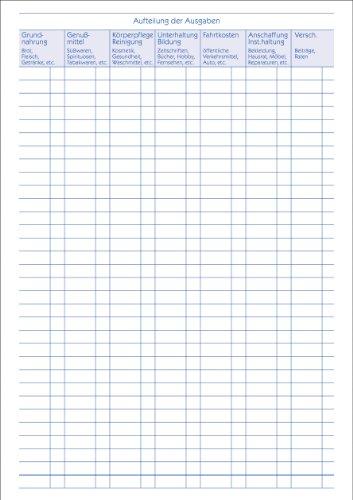 Avery Zweckform 201 Haushaltsbuch (DIN A5, mit Jahresübersicht, 36 Blatt) weiß - 2