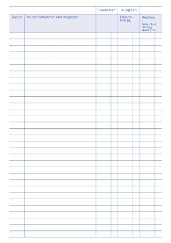 Avery Zweckform 201 Haushaltsbuch (DIN A5, mit Jahresübersicht, 36 Blatt) weiß - 3