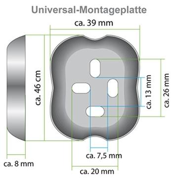 Bad-Serie-Piazza - Toilettenpapierhalter, aus hochwertigem Edelstahl, matt - 3