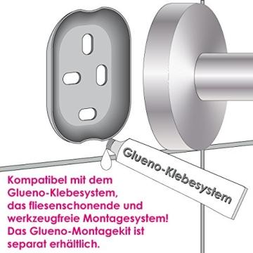 Bad-Serie-Piazza - Toilettenpapierhalter, aus hochwertigem Edelstahl, matt - 4