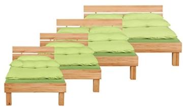 CARIA Doppelbett/Massivholzbett, 180 x 200, Kernbuche - 3