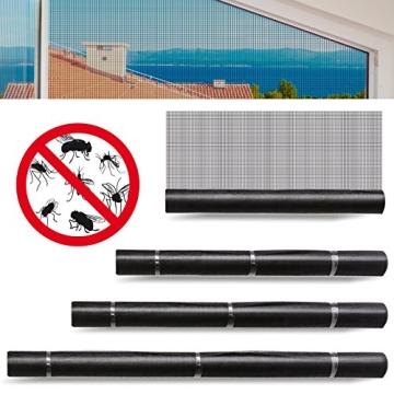 casa pura® Fliegengitter für Fenster und Türen | Zuverlässiger Insektenschutz aus Fiberglas mit Vinyl-Beschichtung | Farbe schwarz | in 2 Längen und 4 Breiten verfügbar (3m x 1m) - 6