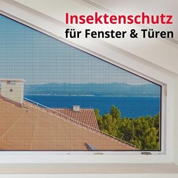 casa pura® Fliegengitter für Fenster und Türen | Zuverlässiger Insektenschutz aus Fiberglas mit Vinyl-Beschichtung | Farbe schwarz | in 2 Längen und 4 Breiten verfügbar (3m x 1m) - 7