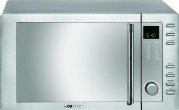 Clatronic MWG 775 H/ Mikrowelle mit Grill und Heißluft / 23 Liter / Edelstahlgehäuse - 1