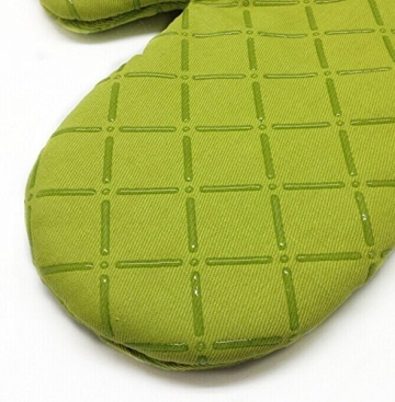 Ioven Topfhandschuhe,2-teilig,silikon & Baumwolle,Topflappen (grün) - 2