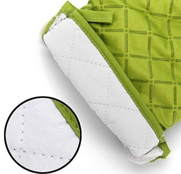 Ioven Topfhandschuhe,2-teilig,silikon & Baumwolle,Topflappen (grün) - 4