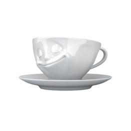 Kaffee-Tasse glücklich Hartporzellan 200 ml - 1