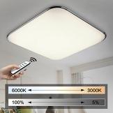 Natsen® Moderne LED Deckenlampe Wohnzimmer Lampe I503Y-50W voll dimmbar (650mm*650mm / 50W)lieferbar - 1