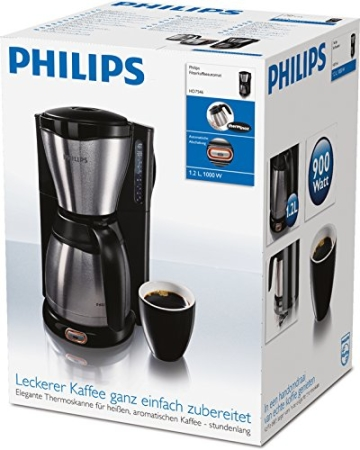 Philips HD7546/20 Gaia Filter-Kaffeemaschine mit Thermoskanne, schwarz/metall - 10