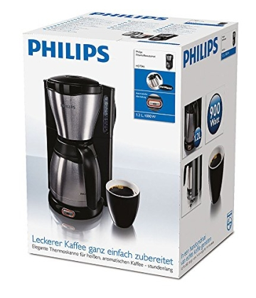 Philips HD7546/20 Gaia Filter-Kaffeemaschine mit Thermoskanne, schwarz/metall - 7