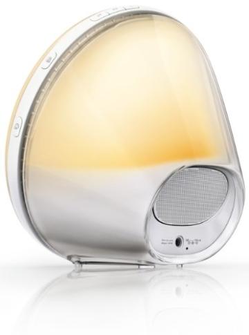 Philips HF3520/01 Wake-Up Light (Sonnenaufgangfunktion, digitales FM Radio) weiß - 2