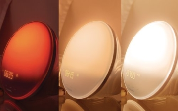 Philips HF3520/01 Wake-Up Light (Sonnenaufgangfunktion, digitales FM Radio) weiß - 5