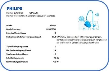 Philips PowerPro Compact FC8477/91 Staubsauger ohne Beutel EEK B (EPA10 Filter), grau - 3