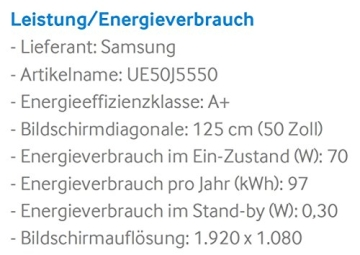 Samsung UE50J5550 125 cm (50 Zoll) Fernseher (Full HD, Triple Tuner, Smart TV) - 3