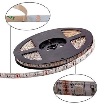SENDIS 300 LEDs 5050 SMD RGB LED Stripe Set ink IR Kabelose Fernbedienung mit 44 Schaltflächen Netzteil und Control Box - 4
