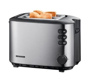Severin AT 2514 Automatik-Toaster (850 Watt), edelstahl - 1