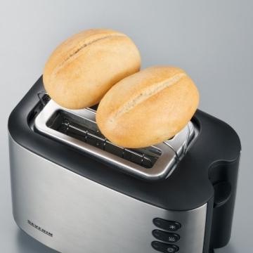 Severin AT 2514 Automatik-Toaster (850 Watt), edelstahl - 2