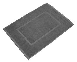 SOLEO Badvorleger Anthrazit Grau 50 x 70cm in Premium Qualität 650 g/m² Badematte Badteppich Duschvorleger I 2 Jahre Zufriedenheitsgarantie - 1