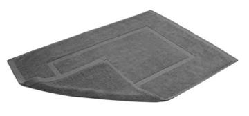 SOLEO Badvorleger Anthrazit Grau 50 x 70cm in Premium Qualität 650 g/m² Badematte Badteppich Duschvorleger I 2 Jahre Zufriedenheitsgarantie - 3