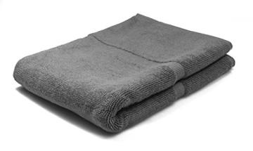 SOLEO Badvorleger Anthrazit Grau 50 x 70cm in Premium Qualität 650 g/m² Badematte Badteppich Duschvorleger I 2 Jahre Zufriedenheitsgarantie - 4