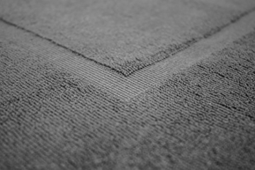 SOLEO Badvorleger Anthrazit Grau 50 x 70cm in Premium Qualität 650 g/m² Badematte Badteppich Duschvorleger I 2 Jahre Zufriedenheitsgarantie - 5