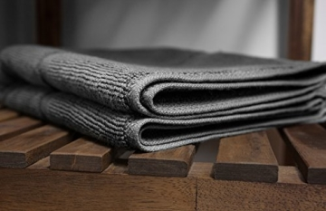 SOLEO Badvorleger Anthrazit Grau 50 x 70cm in Premium Qualität 650 g/m² Badematte Badteppich Duschvorleger I 2 Jahre Zufriedenheitsgarantie - 6