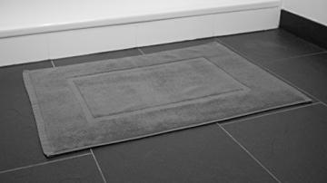 SOLEO Badvorleger Anthrazit Grau 50 x 70cm in Premium Qualität 650 g/m² Badematte Badteppich Duschvorleger I 2 Jahre Zufriedenheitsgarantie - 7