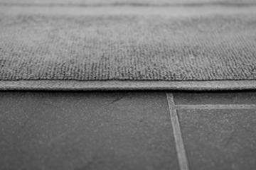 SOLEO Badvorleger Anthrazit Grau 50 x 70cm in Premium Qualität 650 g/m² Badematte Badteppich Duschvorleger I 2 Jahre Zufriedenheitsgarantie - 8