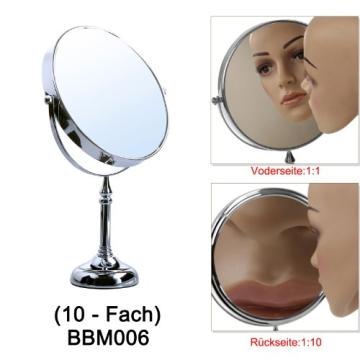 Songmics® 10 fach Kosmetikspiegel 8 inch Schminkspiegel doppelseitiger Standspiegel BBM006 - 5