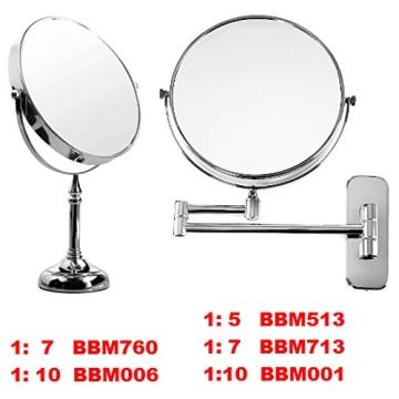 Songmics® 10 fach Kosmetikspiegel 8 inch Schminkspiegel doppelseitiger Standspiegel BBM006 - 6