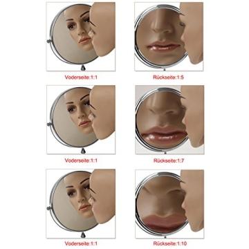 Songmics® 10 fach Kosmetikspiegel 8 inch Schminkspiegel doppelseitiger Standspiegel BBM006 - 7