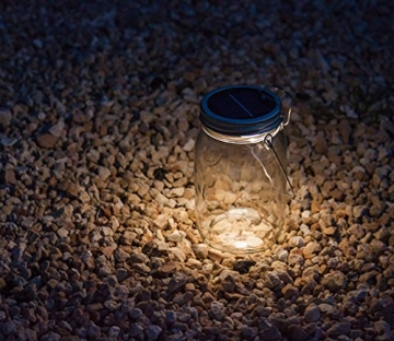 SONNENGLAS® Solarlampe / Solar-Laterne im Einmachglas (inkl. USB) - 5
