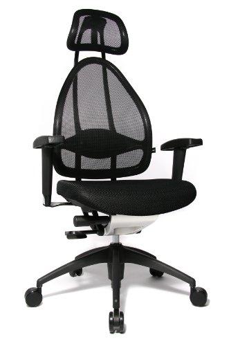 Topstar Open Art 2010 OPA0TB900 Bürodrehstuhl mit Armlehnen / Sitz schwarz / Rückenlehne und Kopfstütze schwarz - 2