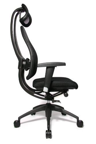 Topstar Open Art 2010 OPA0TB900 Bürodrehstuhl mit Armlehnen / Sitz schwarz / Rückenlehne und Kopfstütze schwarz - 3