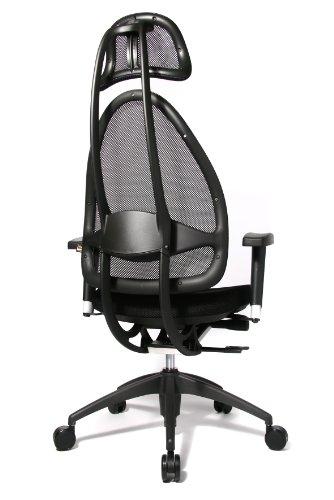 Topstar Open Art 2010 OPA0TB900 Bürodrehstuhl mit Armlehnen / Sitz schwarz / Rückenlehne und Kopfstütze schwarz - 4