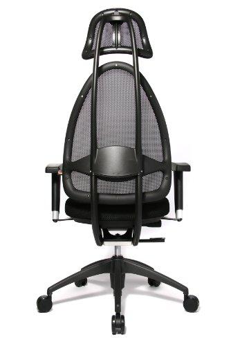 Topstar Open Art 2010 OPA0TB900 Bürodrehstuhl mit Armlehnen / Sitz schwarz / Rückenlehne und Kopfstütze schwarz - 5