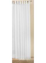 Transparente einfarbige Gardine aus Voile, viele attraktive Farben, 245x140, Weiß, 61000 - 1
