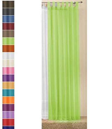 Transparente einfarbige Gardine aus Voile, viele attraktive Farben, 245x140, Weiß, 61000 - 2