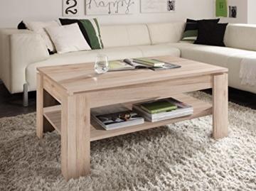 trendteam CT11290 Couchtisch Wohnzimmertisch Tisch Eiche San Remo Hell Nachbildung, LxBxH 110x65x47 cm, Melamin - 2