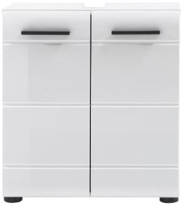 trendteam SN30101 Bad Waschbeckenunterschrank weiss hochglanz, BxHxT 60x56x31 cm - 1