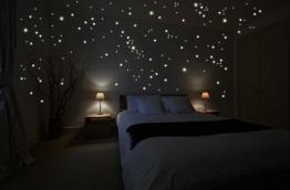 Wandkings WK-10974 250 Leuchtpunkte für Sternenhimmel Wandsticker, Fluoreszierend und im Dunkeln leuchtend - 2