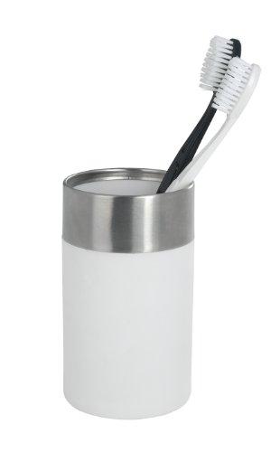 WENKO 19970100 Zahnputzbecher Creta White - Soft-Touch, Kunststoff - Polystyrol, 7 x 11.1 x 7 cm, Weiß - 3