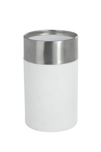 WENKO 19970100 Zahnputzbecher Creta White - Soft-Touch, Kunststoff - Polystyrol, 7 x 11.1 x 7 cm, Weiß - 4