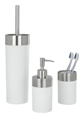 WENKO 19970100 Zahnputzbecher Creta White - Soft-Touch, Kunststoff - Polystyrol, 7 x 11.1 x 7 cm, Weiß - 5
