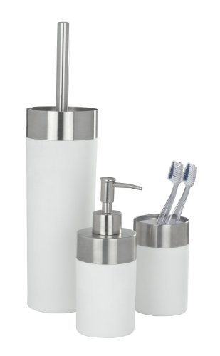 WENKO 19970100 Zahnputzbecher Creta White - Soft-Touch, Kunststoff - Polystyrol, 7 x 11.1 x 7 cm, Weiß - 6