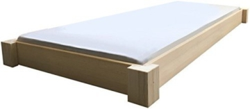 Bodentiefes Designbett Massivholzbett Bett Holz massiv 90 100 120 140 160 180 200 x 200cm hergestellt in BRD (140cm x 200cm) -